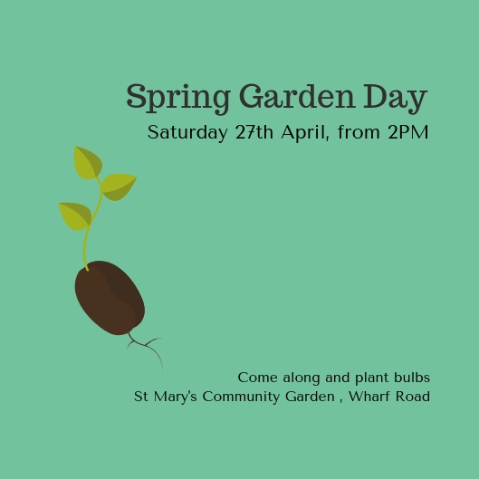 Advert for Spring Garden Day at St Mary's Community Garden
