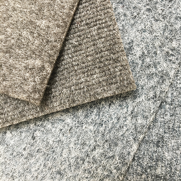The carpet sample selection from a local carpet supplier - steel grey versus frost grey.