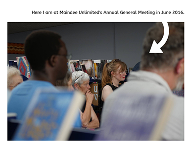 Jo Sutton at Maindee Unlimited's Annual General Meeting 2016