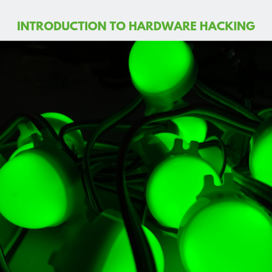 Advert for hardware hacking workshop